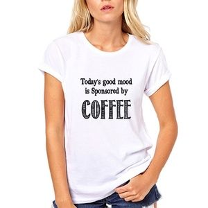Mood Sponsored By Coffee Womens T Shirt